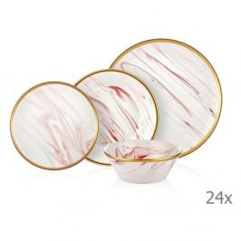24dílný set porcelánového nádobí Mia Lucid Rose
