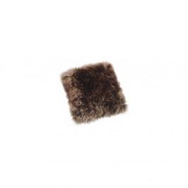 Hnědý polštář z ovčí kožešiny Royal Dream Sheepskin, 45x45cm