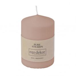 Pudrově růžová svíčka Eco candles by Ego dekor Top, doba hoření 25h