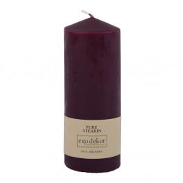 Vínově červená svíčka Baltic Candles Eco Top, výška 18cm