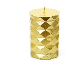 Svíčka ve zlaté barvě Unimasa Fashion,výška10cm