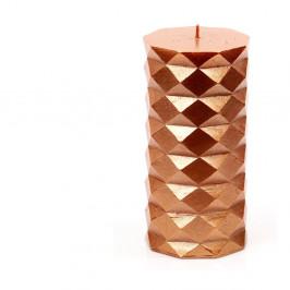 Oranžová svíčka Unimasa Fashion,výška13,8cm