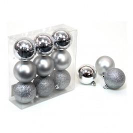 Sada 9 vánočních ozdob ve stříbrné barvě Unimasa Caja