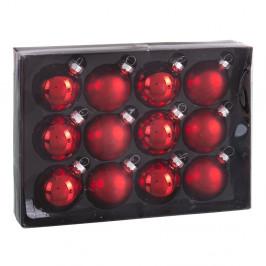 Sada 12 červených vánočních ozdob Unimasa Brightness