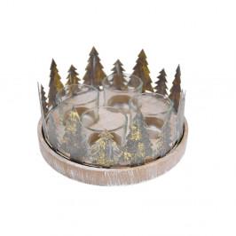 Adventní věnec na čajové svíčky s detaily ve zlaté barvě Ego Dekor