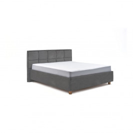 Světle šedá dvoulůžková postel s roštem a úložným prostorem ProSpánek Karme, 160 x 200 cm