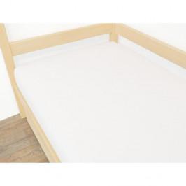 Bílé prostěradlo z mikroplyše,70x160cm