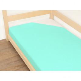 Modré prostěradlo z bavlny Benlemi Jersey,90x190cm
