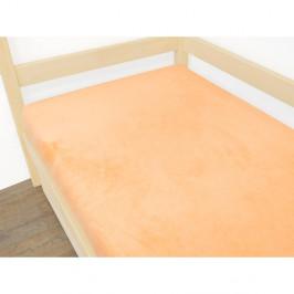 Oranžové prostěradlo z mikroplyše,80x160cm