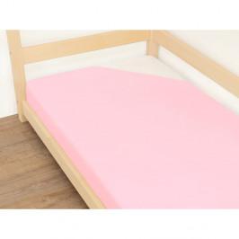 Růžové prostěradlo z bavlny Benlemi Jersey,120x190cm