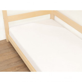 Bílé prostěradlo z bavlny Benlemi Jersey,90x180cm