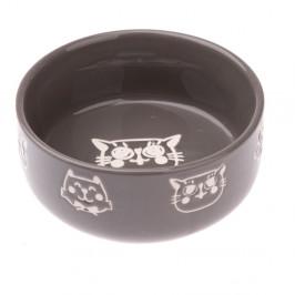 Šedá keramická miska pro kočku Dakls, 300ml