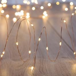 Transparentní LED světelný řetěz DecoKing Lights, 180světýlek, délka 4,5 m