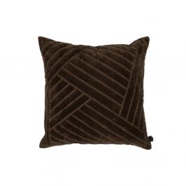Hnědý dekorativní polštář BePureHome Velvet Coffee, 50 x 50 cm