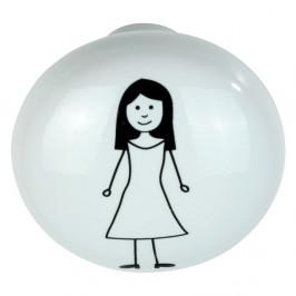 Bílý keramický nástěnný háček Wenko Arles Woman