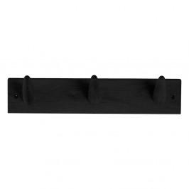 Černý věšák na oblečení z dubového dřeva Canett Uno, šířka 40 cm