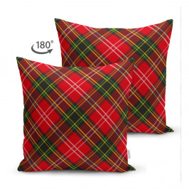 Červeno-zelený povlak na polštář Minimalist Cushion Covers, 45 x 45 cm