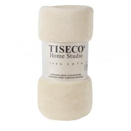 Béžová mikroplyšová deka Tiseco Home Studio,150x200cm