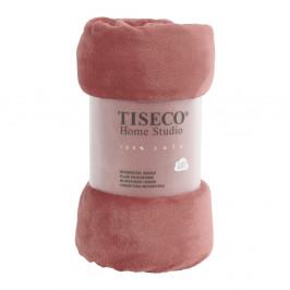 Růžová mikroplyšová deka Tiseco Home Studio,220x240cm