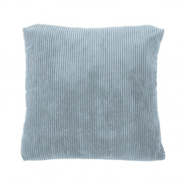 Modrý dekorativní polštář Tiseco Home Studio Ribbed,40x40cm