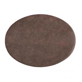Tmavě hnědé prostírání z imitace kůže ZicZac Troja,33x45cm