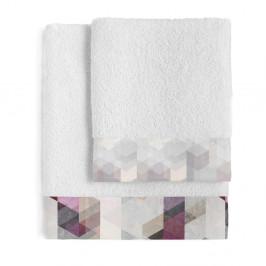 Sada 2 bavlněných ručníků Blanc Pond