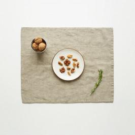 Béžové lněné prostírání Linen Tales, 35x45cm