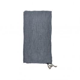 Modrý bavlněný přehoz přes postel na dvoulůžko Södahl Poetry,200x260cm