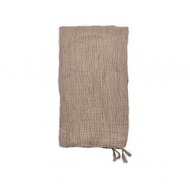Béžový bavlněný přehoz přes postel na dvoulůžko Södahl Poetry,200x260cm