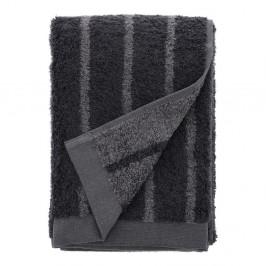 Šedý ručník z froté bavlny Södahl Stripes, 100 x 50 cm