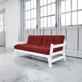 Rozkládací pohovka Karup Step White/Passion Red