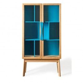 Modrá knihovna/vitrína Woodman Avon