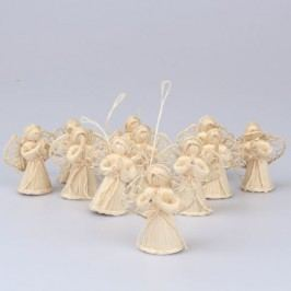 Sada šesti závěsných slaměných andělů Dakls