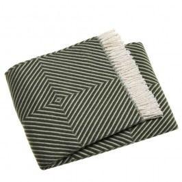 Zelený pléd s podílem bavlny Euromant Tebas, 140x180cm