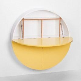 Multifunkční nástěnný stůl Pill EMKO, bílá/žlutá