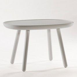 Šedý odkládací stolek z masivu EMKO Naïve Medium