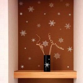 Sada 30 vánočních samolepek Ambiance Christmas Silver Flakes