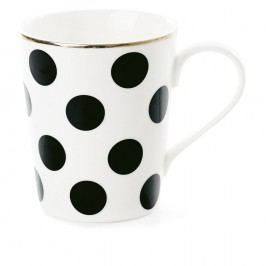 Keramický hrnek Miss Étoile CoffeeBig Black Dots, Ø 8 cm