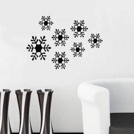 Samolepka na zeď Snowflakes, 49x34 cm