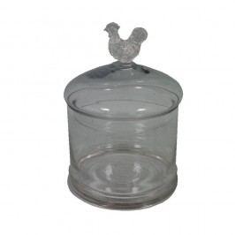 Skleněná dóza Antic Line Poulle, ⌀ 14 cm