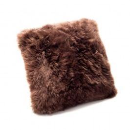 Hnědý polštář z ovčí kožešiny Royal Dream Sheepskin,45x45cm