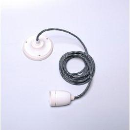 Kabel Diamond, bílá objímka/černý kabel