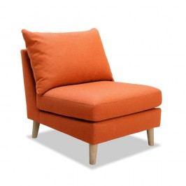 Oranžové křeslo Vivonita Liam