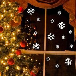 Elektrostatická vánoční samolepka Ambiance Bright White Snow