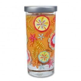 Vonná svíčka Glass Bridgewater Candle, vůně kokosu a vanilky