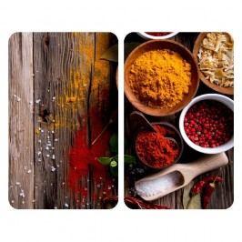 Sada 2 skleněných krytů na sporák Wenko Spices