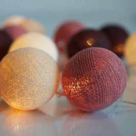 Svítící řetěz Irislights Dusty Pink,20světýlek