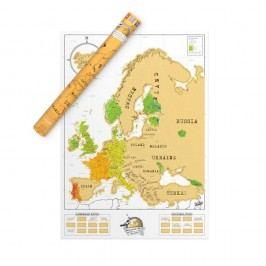 Stírací mapa Evropy Luckies of London