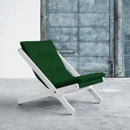 Skládací křeslo Karup Design Boogie White/Forest Green