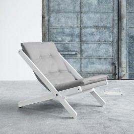 Skládací křeslo Karup Design Boogie White/Grey